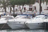 Yachts in Cala d'Or marina.