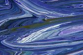 oil painting blue abstract