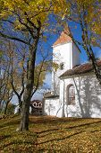 White Church In Autumn