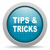 tips blue circle web glossy icon