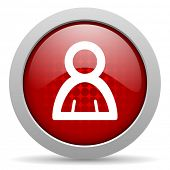 account red circle web glossy icon