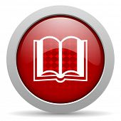 book red circle web glossy icon