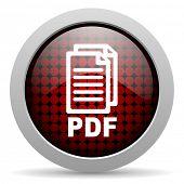 pdf glossy icon