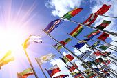 stock photo of south east asia  - World flags - JPG
