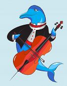 Dolphin And Violoncello