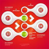 Infográfico moderno modelo para projeto de negócios. Pode ser usado para o infográfico cartazes, banners, placas