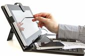 Business Woman Using Digital Tablet.