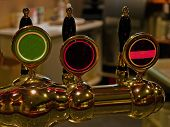 Beer Taps In A Pub Bar