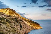 View On Makarska Riviera Coast In The Evening, Croatia