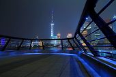 Shanghai Bund Skyline At Night City Landscape