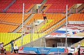 MOSCOW - JUN 11: D.Starodubtsev goes over bar at Grand Sports Arena of Luzhniki OC during Internatio