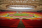 MOSCOW - JUN 11: Grand Sports Arena of Luzhniki Olympic Complex during International athletics compe