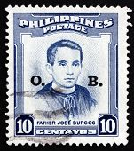 Postage Stamp Philippines 1955 Father Jose Burgos