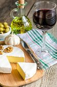 Camembert Cheese And Red Wine