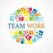 Team Work Symbol. Vector Creative Concept.