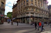 Rue Du Marche In Geneva, Switzerland
