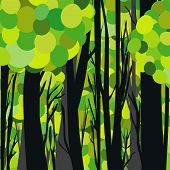 Abstract Green Forest