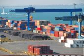 Port Warehouse With Cargoes And Containers
