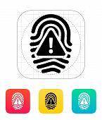 Fingerprint scan error icon.