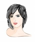 Girl With Brown Hair Portrait.eps