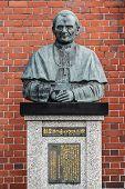 Statue of Pope John Paul II at Urakami Cathedral in Nagasaki
