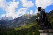 Statue Of Julius Kugy,  Julian Alps