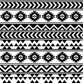 stock photo of eastern culture  - Vector seamless aztec ornament - JPG