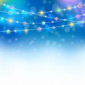 Blue Magic Holiday Background