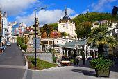 Trziste street of Karlsbad (Karlovy Vary)