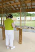 Woman At The Gun Range