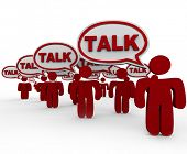 Talk People Sharing Information Speech Bubbles Customers