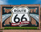 Route 66: Pontiac, Illinois mural