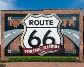 Route 66: Pontiac, Illinois mural