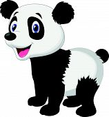 Cute panda bear cartoon