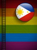 Gay Flag Button On Jeans Fabric Texture Philippines