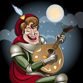Minstrel With Lute