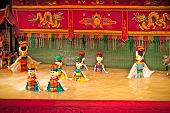 HOCHIMINH - NOVEMBER 16, 2013: Vietnamese water puppet show at Golden Dragon Water Puppet Theater No