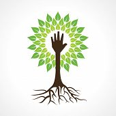 Helping hand make tree