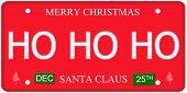 Ho Ho Ho License Plate