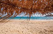 Umbrella On The Beach In Mykonos