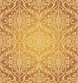 Golden seamless pattern. Vector illustration.