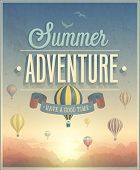 Summer Adventure poster. Vector illustration.