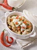 fusilli with ricotta and hot chili pepper