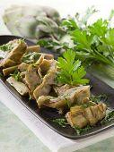sauteed artichoke on dish