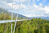 foto of measuring height  - This is the new panorama bridge in the Swiss alps - JPG