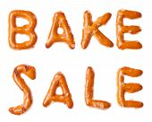Alphabet Pretzel Written Words Bake Sale Isolated