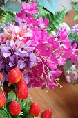 Colorful Of Artificial Flowers.