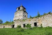 Ruins of old monastery, take in Sataniv town, Ukraine