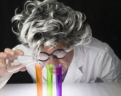 Scientist and Test Tubes