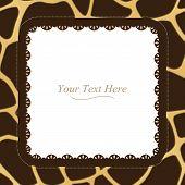 Giraffe Print Square Frame
